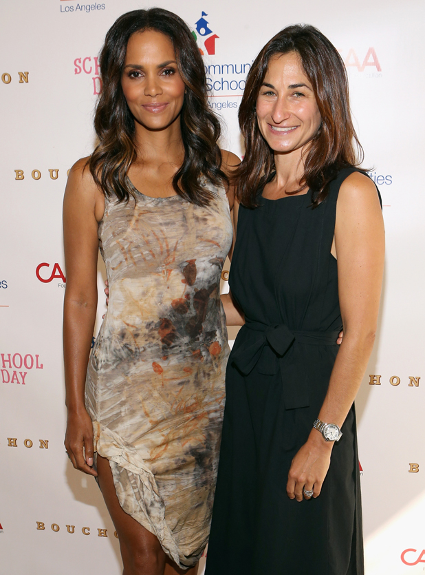 Halle Berry and Deborah Marcus, Executive Director, CISLA, attend CAA's School Day Benefiting Communities In Schools of Los Angeles at Bouchon on September 18, 2014 in Beverly Hills, California.