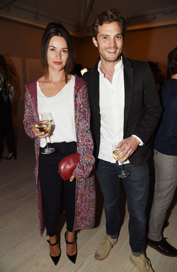 Jamie Dornan and Amelia Warner at preview of 'Second Floor' a new photographic exhibition by Sam Taylor-Johnson, London, Britain - 11 Sep 2014
