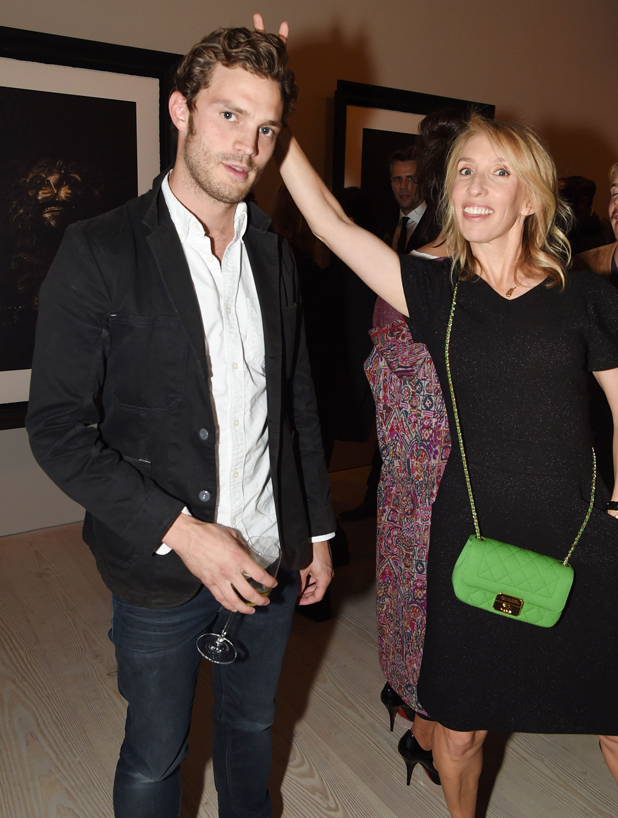 Jamie Dornan and Sam Taylor-Wood at preview of 'Second Floor' a new photographic exhibition by Sam Taylor-Johnson, London, Britain - 11 Sep 2014