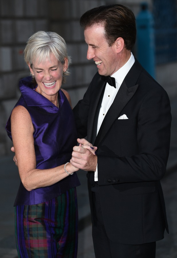 Judy Murray and Anton Du Beke at Dot Com Children's Foundation Strictly Ballroom - charity dinner held at Mansion House, 16 September 2014