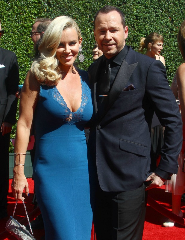 Jenny McCarthy and Donnie Wahlberg at Creative Arts Emmy Awards, August 2014