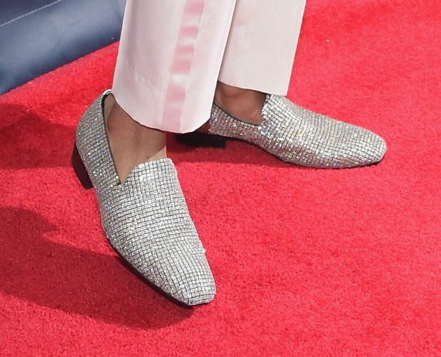 Nick Cannon wears $2 million shoes at 2014 America's Got Talent Finale held at Radio City Music Hall, 17 September 2014