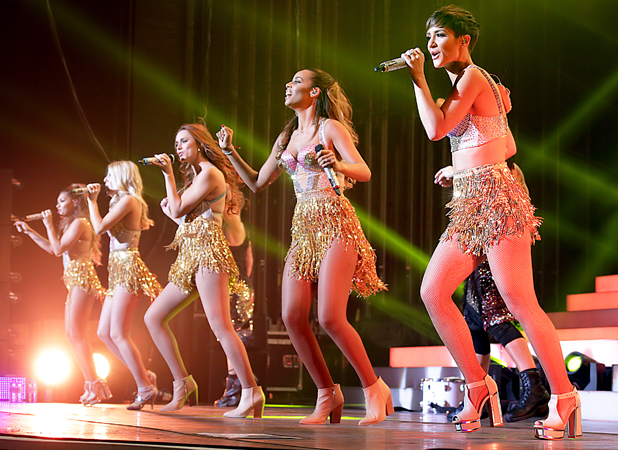 The Saturdays performing live on stage at Manchester O2 Apollo, 14 September 2014