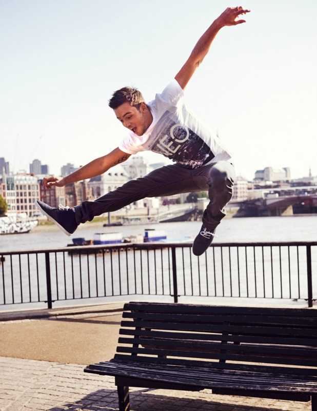 Tom Daley models new Autumn/Winter 2014 collection for adidas Neo Label, September 2014
