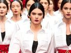 Kendall Jenner takes centre stage on Dolce & Gabbana runway in Milan