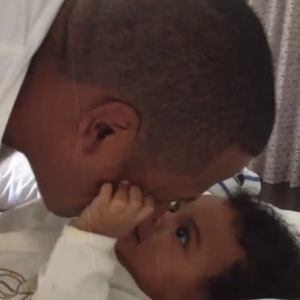 Jay Z plays with Blue Ivy in intimate footage as they wrap up their  'On The Run' tour - 21 September.
