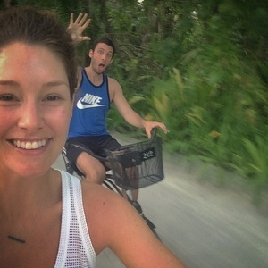 Example and Erin McNaught babymoon in Maldives 22 September