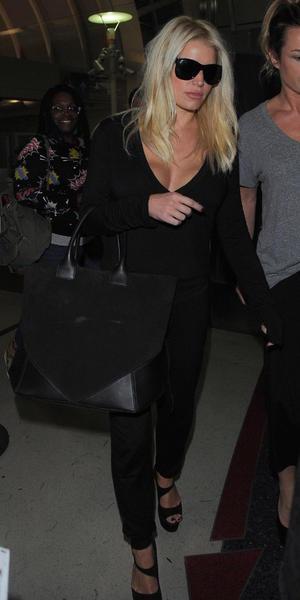 Jessica Simpson arrives at Los Angeles International (LAX) airport, LA 24 September