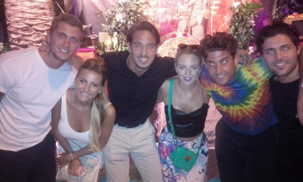 Lydia Bright and James Arg Argent party in Pacha nightclub with Dan Osborne, Georgia Kousoulou, James Lock and Tom Pearce, Ibiza, Spain 24 September