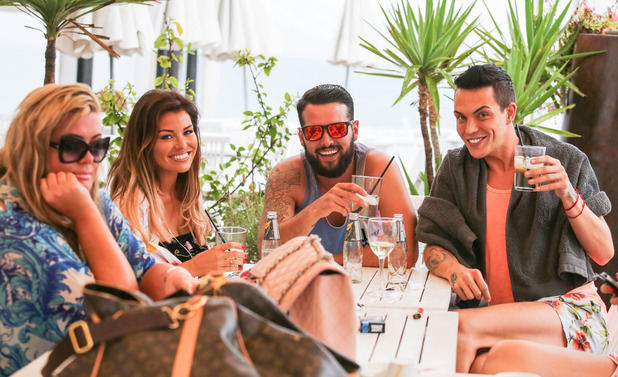 TOWIE, Jess Wright, Ricky Rayment, Gemma Collins and Bobby Norris, Ibiza, Spain 22 September