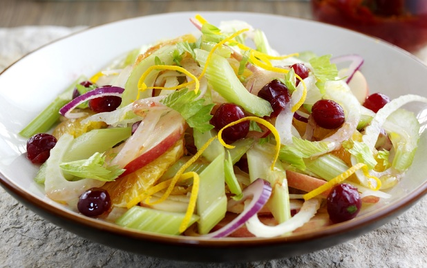 Celery and fennel winter salad