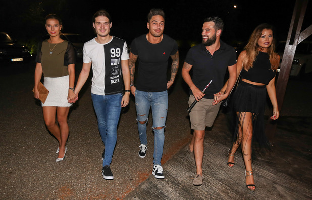 TOWIE's Mario Falcone, Charlie Sims, Ferne McCann, Ricky Rayment, Jess Wright, Bambuddah, Ibiza, Spain 22 September
