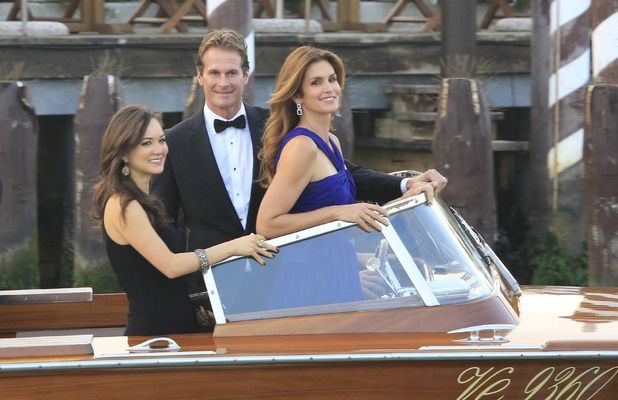 Cindy Crawford and Rande Gerber attend the wedding of George Clooney and Amal Alamuddin, Venice, Italy - 27 Sep 2014
