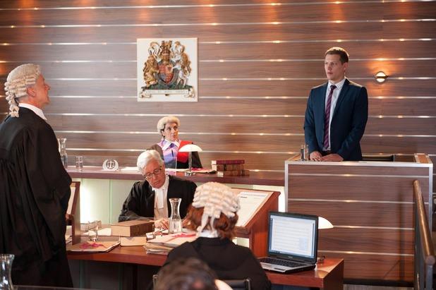 Hollyoaks, John Paul gives evidence in Finn's trial, Mon 29 Sep