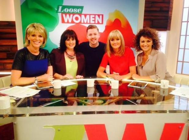 'Loose Women' - London - 22 Sep 2014 Ruth Langsford, Coleen Nolan, Jane Moore and Nadia Sawalha talk to Professor Green.