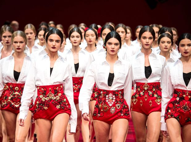 Kendall Jenner walks the runway at the Dolce & Gabbana spring/summer '15 show during Milan Fashion Week - Italy - 21 September 2014