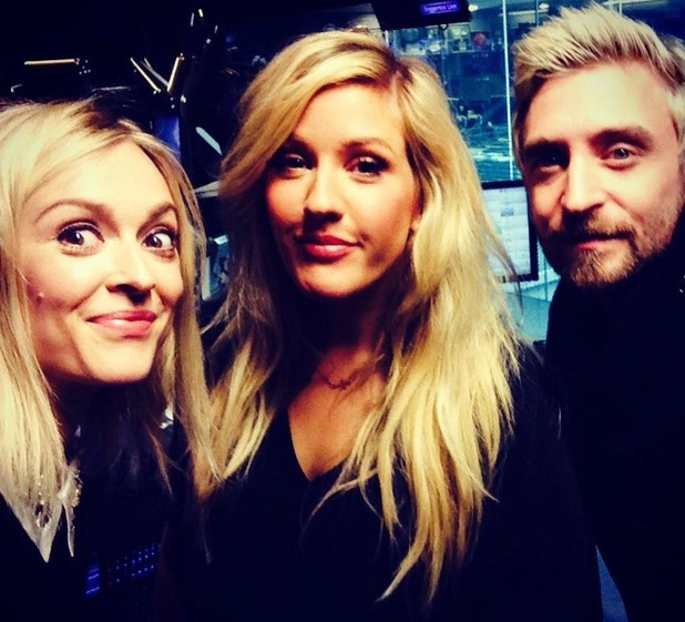 Fearne Cotton, Ellie Goulding and DJ Fresh from Fearne's Twitter 26/9/14
