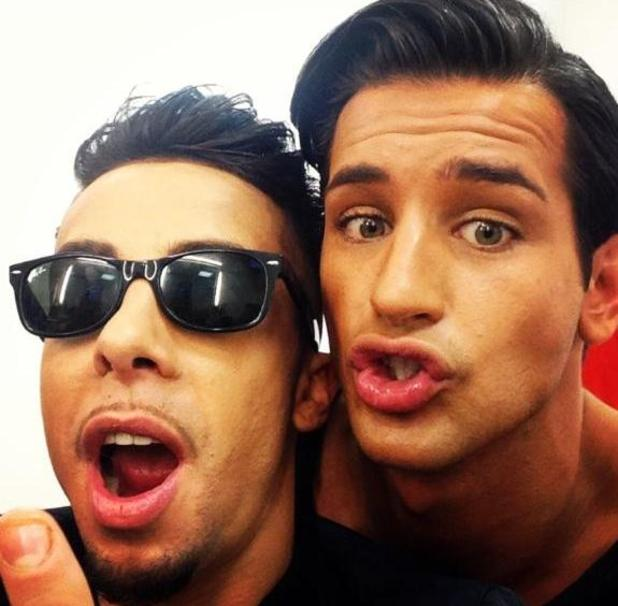 Ollie Locke and Dappy enjoy Celebrity Big Brother reunion as they film new show (21 September).