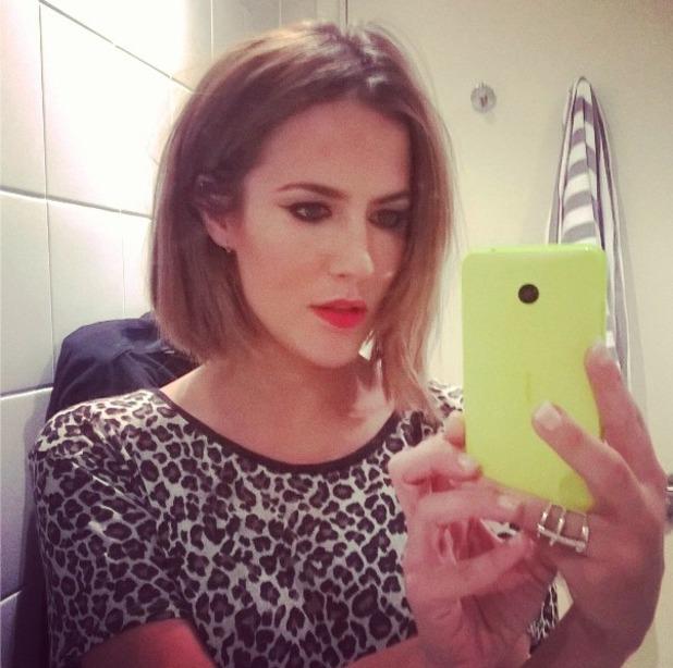 Caroline Flack gets a new bob haircut from Hannah Wynne, 23 September 2014