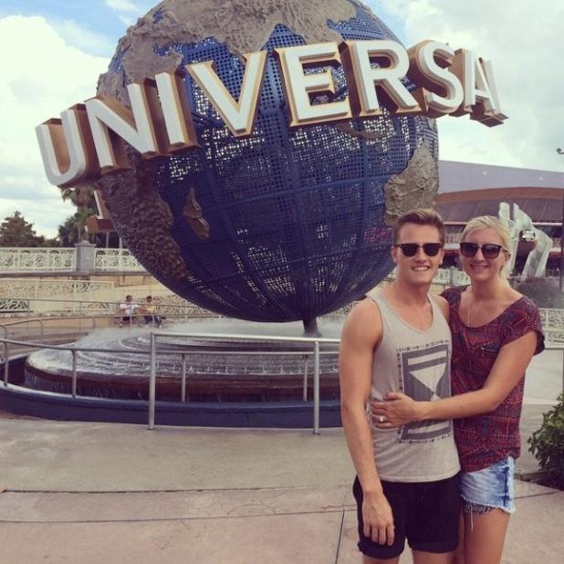 Rebecca Adlington and husband Harry Needs on honeymoon in Florida - 21 September.
