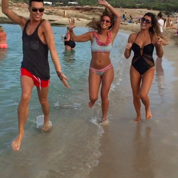 Jessica Wright shares beach snap with Ferne McCann and Bobby Norris from Ibiza where the TOWIE cast film TOWIE, 26 September 2014