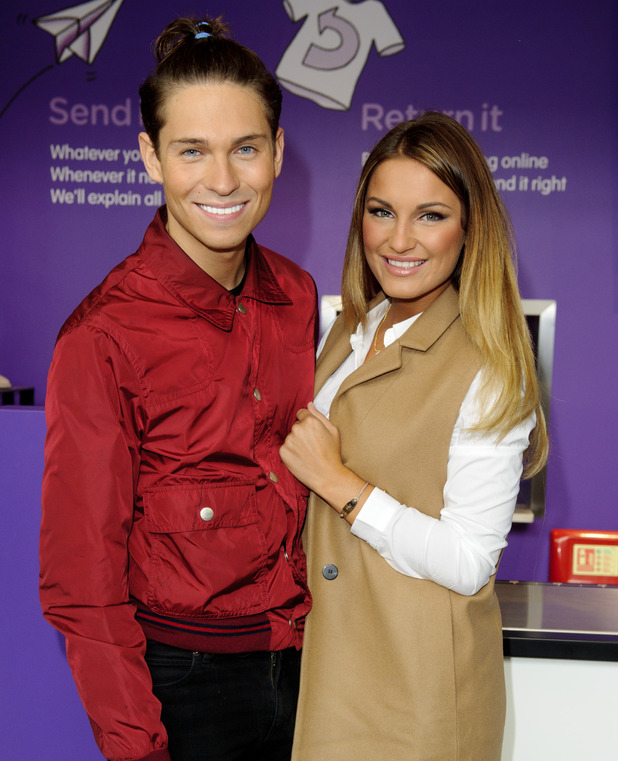 Sam Faiers and Joey Essex pictured after split promoting Doddle, London 24 September