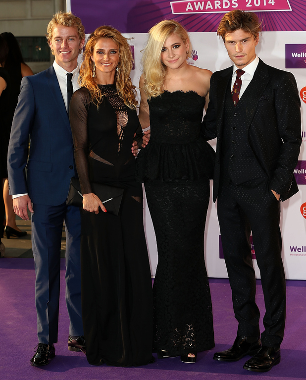 Trent Whiddon, Gordana Grandosek, Pixie Lott and Oliver Cheshire attends the WellChild Awards at London Hilton on September 22, 2014 in London, England.
