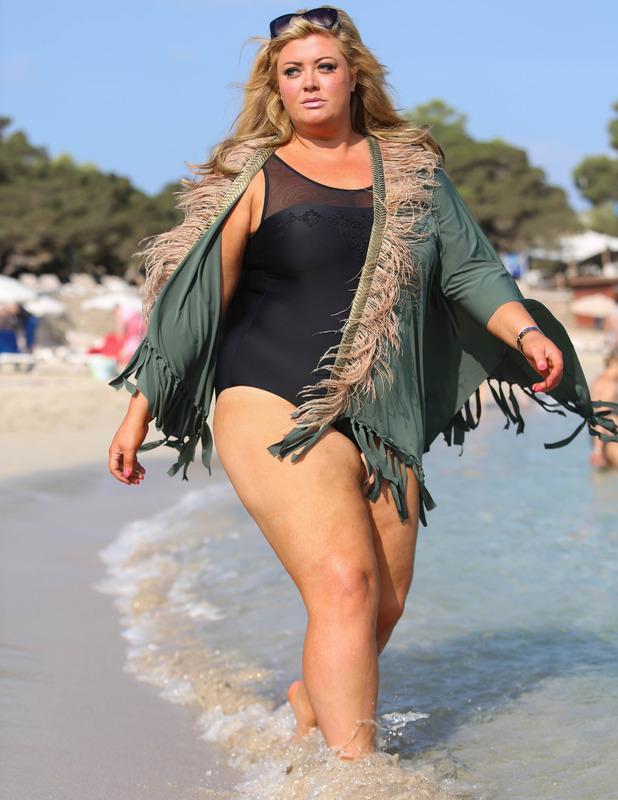 The Only Way Is Essex's Gemma Collins at Cala Bassa beach, Ibiza - 27 Sep 2014