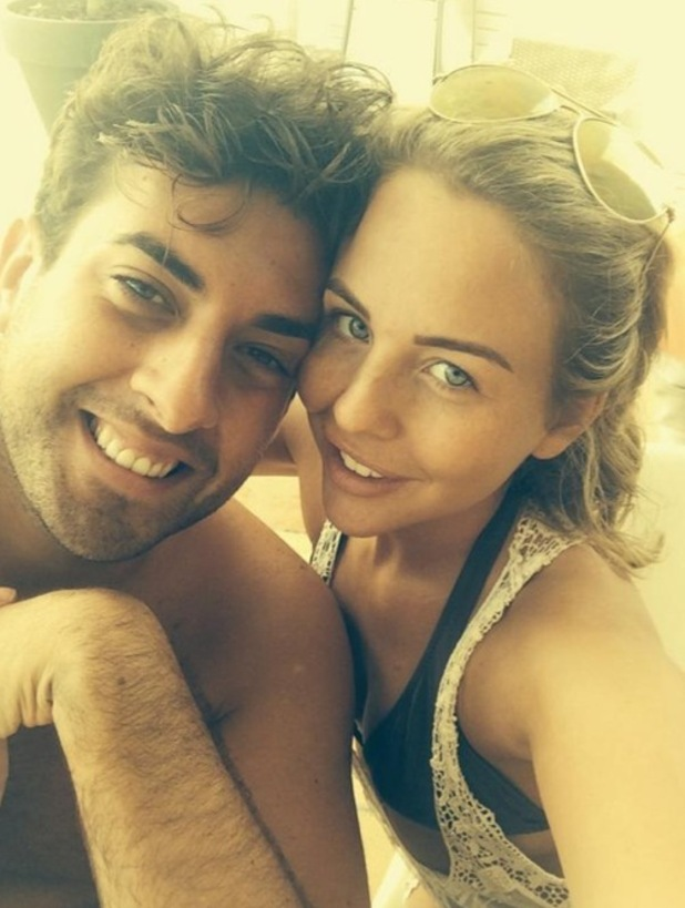 Lydia Bright and James Arg Argent cuddle up in Ibiza 25 September