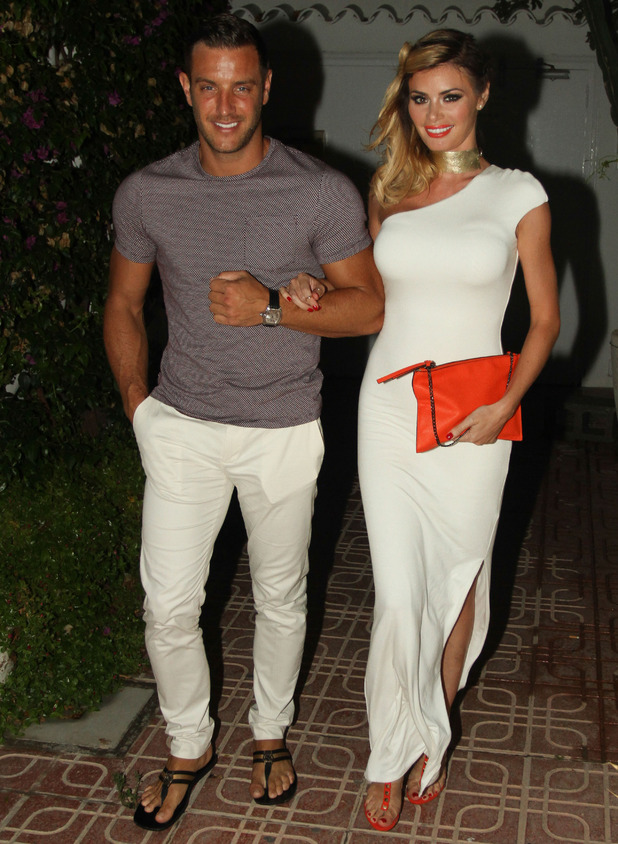 TOWIE's Elliott Wright and Chloe Sims join cast at Es Paradis, Ibiza, Spain 25 September