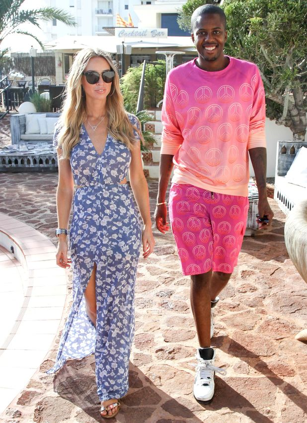 Lauren Pope and Vas J Morgan, The Only Way is Essex cast arrivals at Mercedes Bar, Ibiza, Spain 21 September