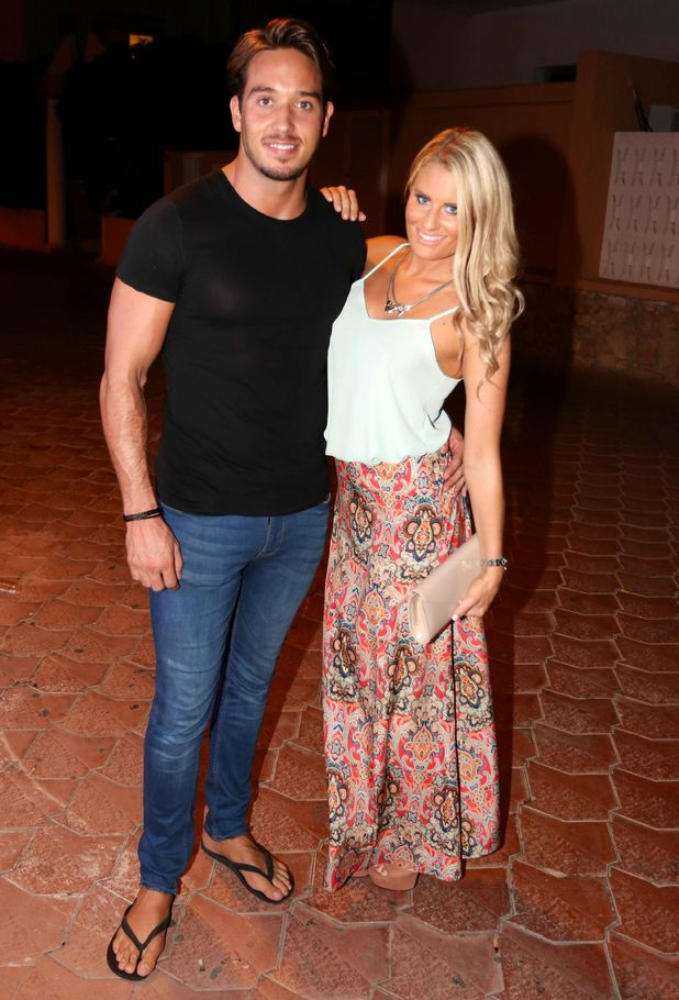 TOWIE's Danielle Armstrong and James Lock arrive at Ocean Beach Club in Ibiza, Spain - 21 September 2014