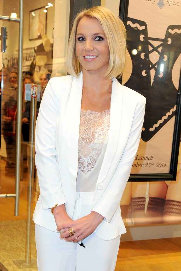 Britney Spears shows off her new bob haircut while promoting her lingerie line in Germany - 25 September 2014