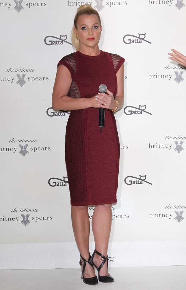 Britney Spears launches her lingerie collection, The Intimate Britney Spears, in Warsaw, Poland - 24 September 2014