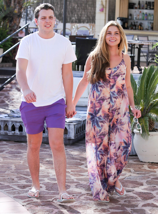 The Only Way is Essex cast arrivals at Mercedes Bar, Ibiza, Spain - 21 Sep 2014 James Bennewith, Francesca Parman