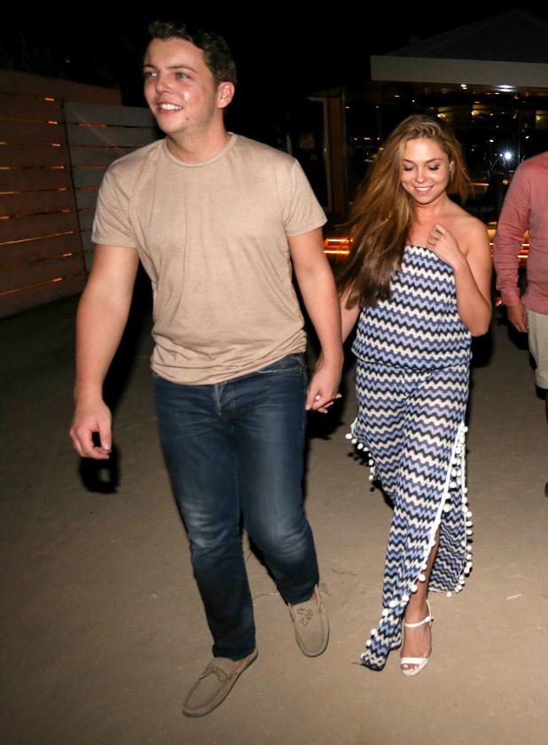 The Only Way is Essex cast arrivals at Coco Beach Club, Ibiza, Spain - 21 Sep 2014 James Bennewith, Francesca Parman
