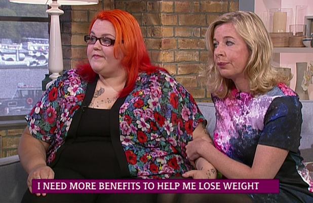 Katie Hopkins comforts Christina Briggs on This Morning, 25 September 2014