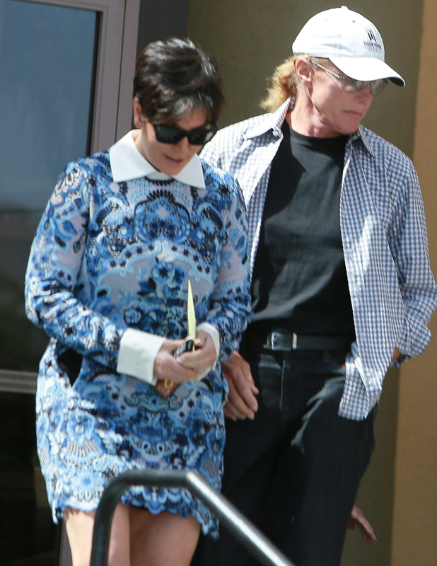 Kris Jenner and Bruce Jenner Leave Easter Service in LA, April 2014