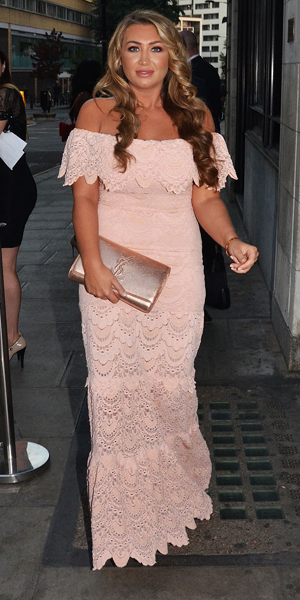 Lauren Goodger at the 4th annual National Reality TV Awards (NRTA) at the Porchester, London, 23 September 2014