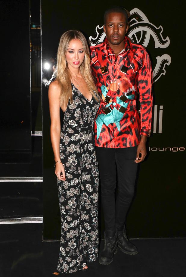 Lauren Pope and Vas J. Morgan at the Cavalli club in Ibiza, 24 September 2014