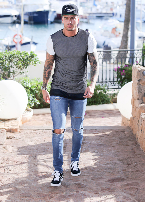 Mario Falcone, The Only Way is Essex cast arrive at Mercedes Bar, Ibiza, Spain - 21 Sep 2014