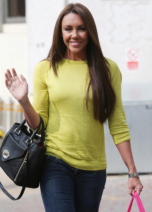 Michelle Heaton outside the ITV studios, 23 September 2014
