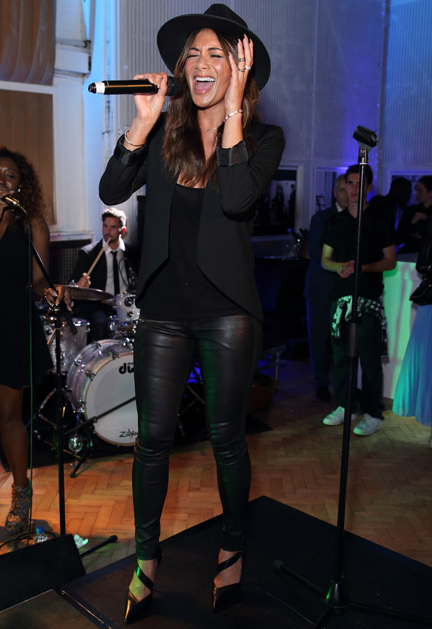 Nicole Scherzinger and Jahmene Douglas attends One For The Boys #SingOne4TheBoys Karaoke Night at Abbey Road Studios on September 25, 2014 in London, England.