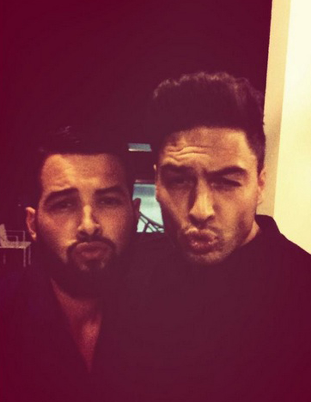 TOWIE in Ibiza: Mario Falcone and Ricky Rayment joke around.