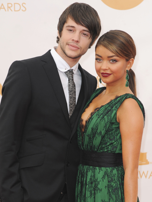 Sarah Hyland and Matt Prokop, 65th Annual Primetime Emmy Awards held at Nokia Theatre L.A. Live - Arrivals, 2014