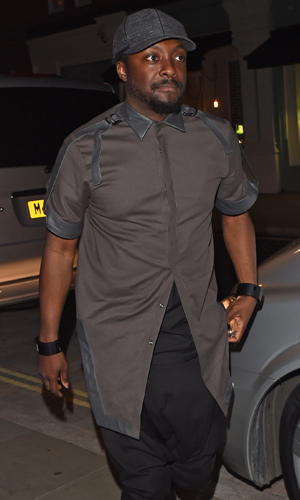 will.i.am, celebrities at the Chiltern Firehouse restaurant in Marylebone - Departures, September 2014