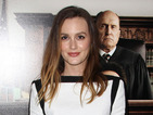 Gossip Girl's Leighton Meester chic in monochrome dress at premiere