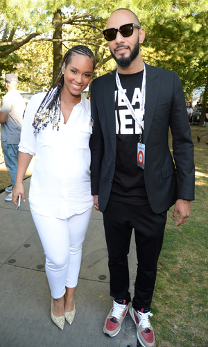 Alicia Keys and Swizz Beatz attend the 2014 Global Citizen Festival to end extreme poverty by 2030 at Central Park on September 27, 2014 in New York City.