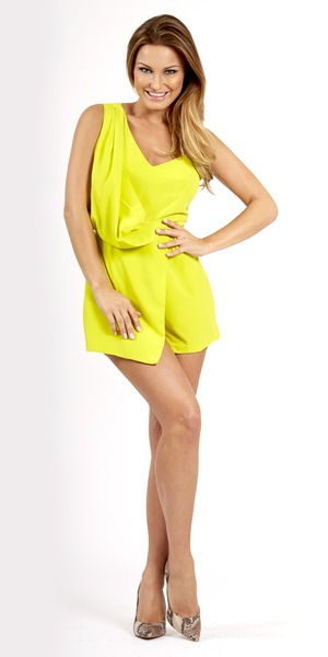 Sam Faiers wears a playsuit in a model shot for her Reveal column