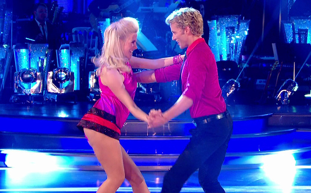Pixie Lott dancing on Strictly with Trent Whiddon, BBC One 26 September